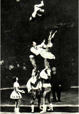 Акробаты с подкидными досками Фалуди