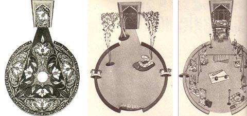 Эскизы оформления панюмимы «Знак на скале»
