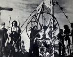 Выступление на первомайской демонстрации (Рикки — в колесе, Жорж ассистирует). Калинин. 1941.jpg