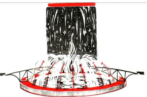 Эскиз оформления спектакля «КАРНАВАЛ НА КУБЕ»