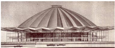 Проект фасада нового московского цирка на пр.Вернадского