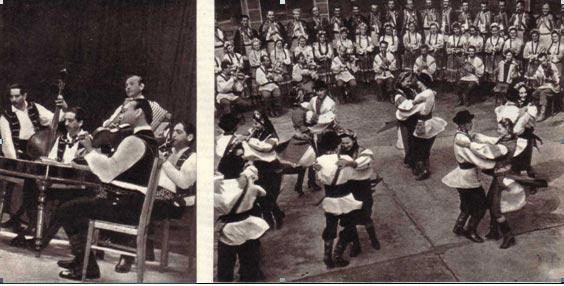Танцевальная группа народного юра исполняет «Коломыйку» — популярный танец закарпатцев