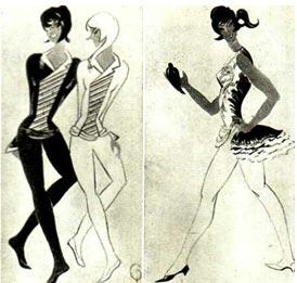 Эскиз костюма для номера «Переходные лестницы» Вариант костюма для, дрессировщицы птиц