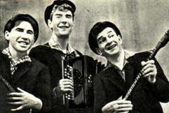 «Ярославские ребята». Слева направо: ЮРИЙ БАЛАШОВ, ВЯЧЕСЛАВ КРОТОВ, ЮРИЙ ЕПИФАНОВ.