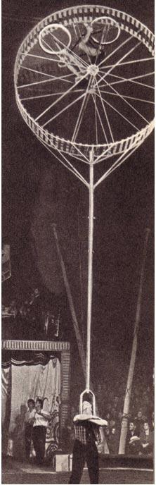 Воздушные гимнасты О. Калуженичене и А. Путрюс