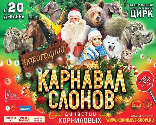 Кострома встретит Новый Год со слонами династии Корниловых