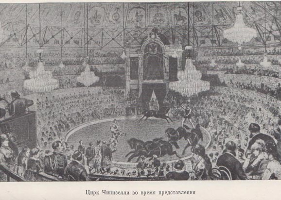 Цирк Чинизелли во время представления