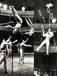 ГУЦЭИ-67. Гимнасты на оригинальном турнике. Эквилибрист на свободной проволоке В. РУЗАНОВ.