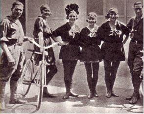 Группа велофигуристов