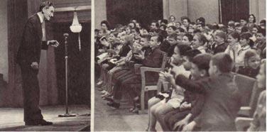 Ребята с удовольствием слушают лектора-музыковеда  В.  Браиловского