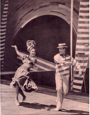 Мексиканский танец в исполнении артистов Н. Шашпай и Э. Мирандо,  фото Л. Хлюппе  Обложки. Журнал Советский цирк. Июль 1965