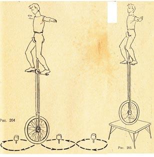 Эквилибр на одноколесном велосипеде