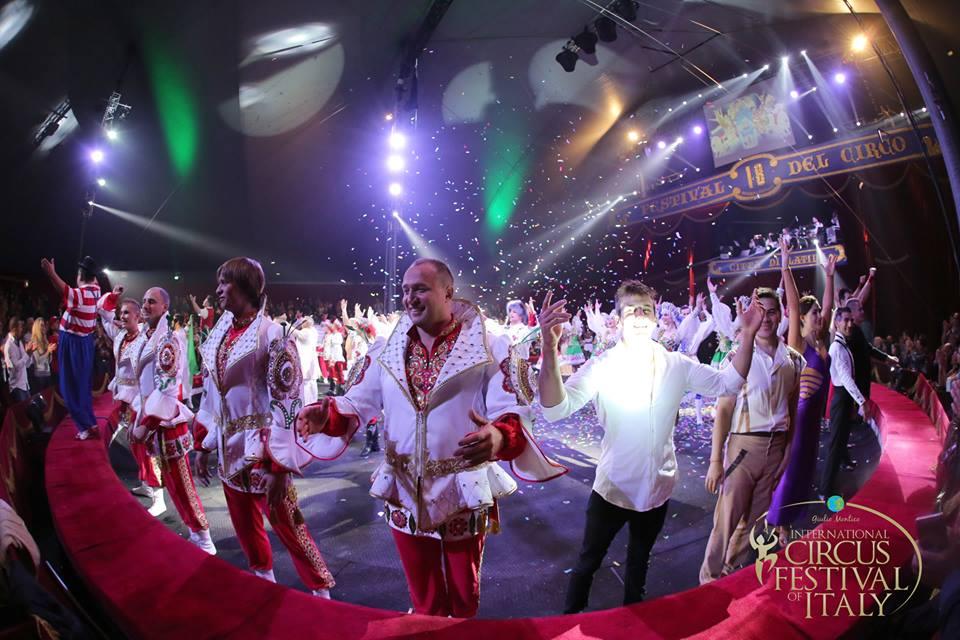 Триумф российского цирка на международном цирковом  фестивале в Италии
