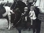 Алибек и Каджана Кантемировы , на пони Буби в 1953 году.jpg