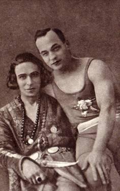 Дмитрий Лонго с известным воздушным гимнастом Федором Морозовым. 1924 год.
