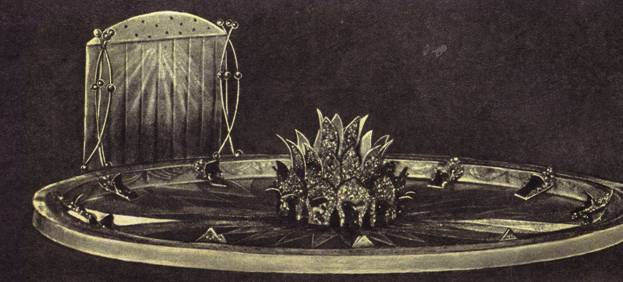 Макет декоративного убранства арены (по эскизу А. Судакевич)
