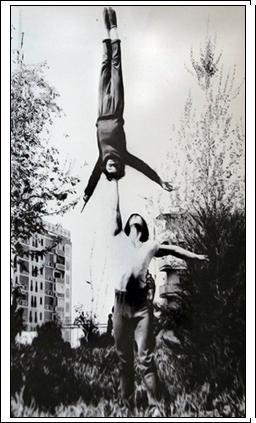 Сергей с партнером на репетициях и учебе в Ташкенте.1980 год