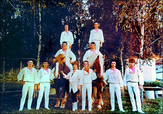 Жокеи под руководством  В.С.Теплова в Днепропетровске. 1987 год