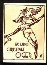 Книжный знак гимнаста Христиана Оже