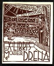 Книжный знак режиссера «Медрано» Жана Дрена