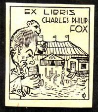 Экслибрис известного американского циркового фоторепортера Чарльза Фокса,
