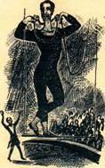 Гимнаст Р. взобрался на трапецию