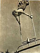 Мы, летчики, часто занимались на гимнастических снарядах и   акробатикой