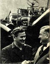 М.  ДЕЙНЕКА и  И. ИВАНОВ когда-то работали в   одной   программе.   Теперь   они   встретились на заводском дворе