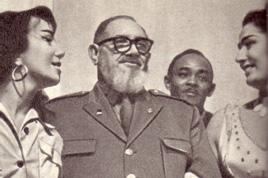 Герой кубинской революции команданте Кресенсио Перес горячо поздравил артистов с успехом