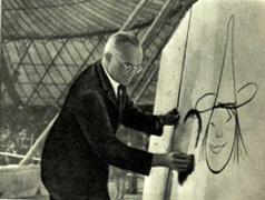 Датский художник Ч. Бидструп в гостях у советских артистов