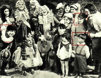 Виталий Ефимович (1), Виталий Витальевич (2) и Мария Яковлевна (3) Лазаренко в картине «Новое платье короля»