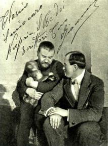 На фото: А. Куприн и Жакомино