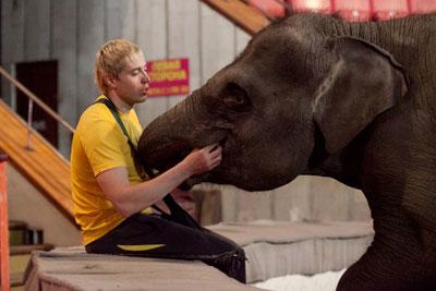 Андрей Дементьев-Корнилов со слонихой Марго