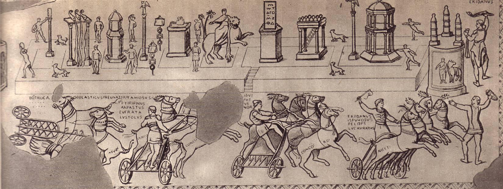 Состязания колесниц вокруг цирковой спины