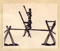 ногами на левую сторону по направлению движения