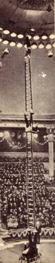 Фрагмент   номера    под    руководством    заслуженного    артиста РСФСР  и  Белорусской ССР  Е.  Милаева