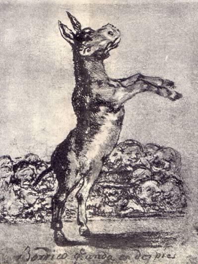 Рисунок Гойи «Осел ходящий на задних ногах»