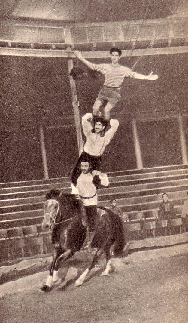 Колонна на скачущей лошади. Такого еще джигиты не делали!