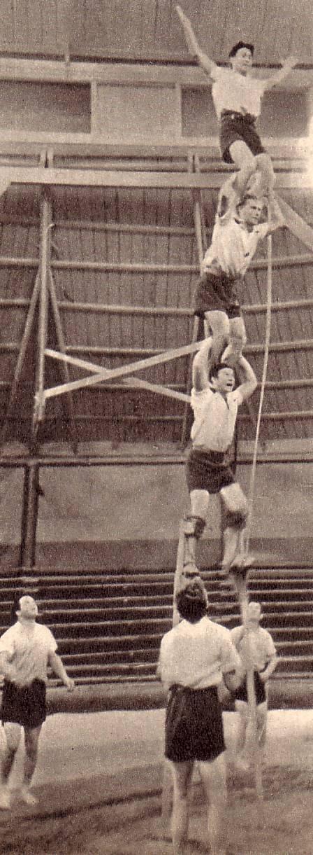 Участники номера Акробаты-прыгуны с подкидными досками2