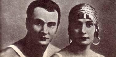 Воздушные   гимнасты  Александр  и   Мария   Ширай   (1927 год)