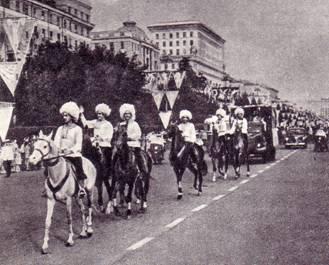 Туркменские джигиты под руководством Д. Ходжабаева