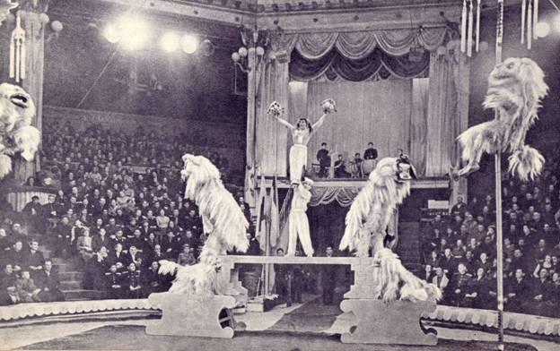 Пантомима «Танец львов» в исполненни труппы под руководством Чэн Лянь-шен (Китай)