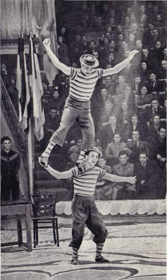 Акробаты-эксцентрики Хортини (ГДР)
