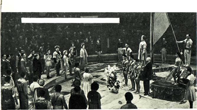 Выступление Грузинского цирка в Москве 1958 год. Парад-пролог