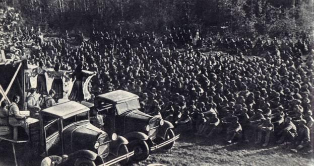 Выступление артистов Ленинградского фронтового цирка (1943 г.)