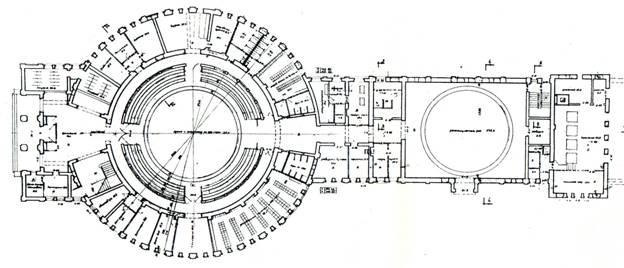 План реконструкции здания Государственного училища циркового искусства (с двумя манежами)