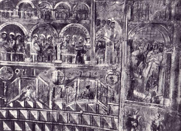Ипподром. Фреска Киево-Софийского собора. XI век