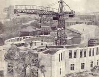 Общий вид строительства здания ГУЦИ