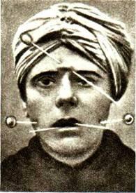 Опыты анестезии, трюк с прокалыванием