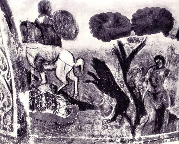 Медвежья травля (предположительно). Фреска Киево-Софийского собора.XI век век